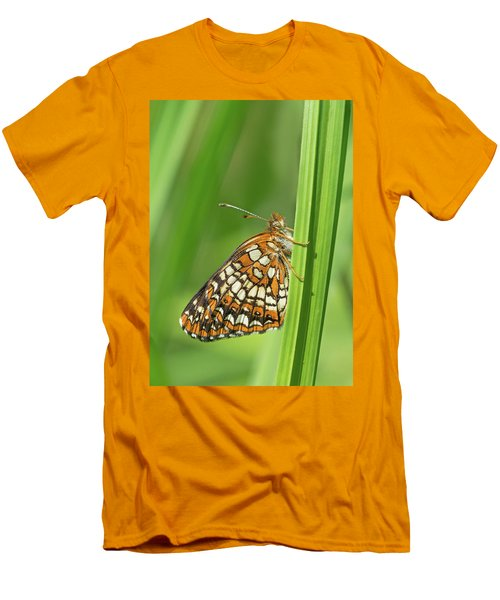 Harris' Checkerspot Men's T-Shirt (Athletic Fit)