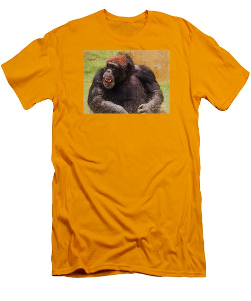 Men's T-Shirt (Slim Fit) featuring the painting Harry by Judy Kay
