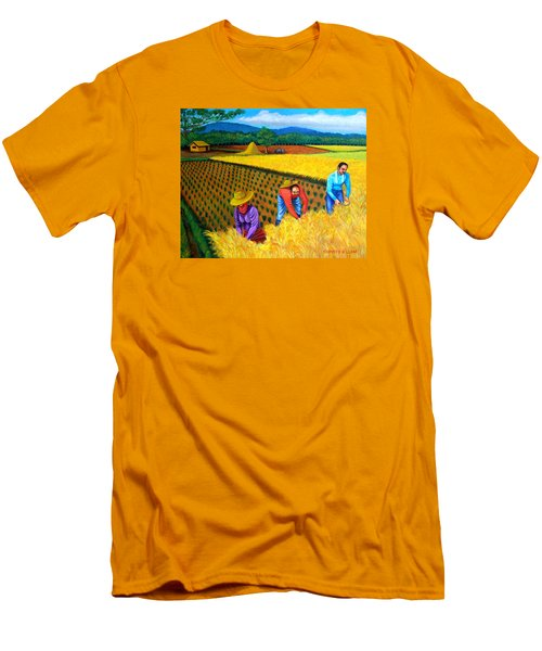 Men's T-Shirt (Slim Fit) featuring the painting Harvest Season by Cyril Maza