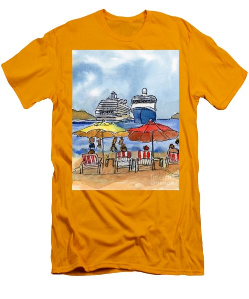 Hautuco Dock Men's T-Shirt (Slim Fit) by Randy Sprout