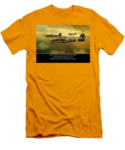 Men's T-Shirt (Slim Fit) featuring the digital art Hawker Typhoon Sqn 56 by John Wills