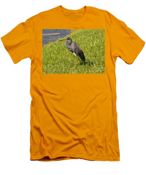 Men's T-Shirt (Slim Fit) featuring the photograph Heading For Water by Carol  Bradley