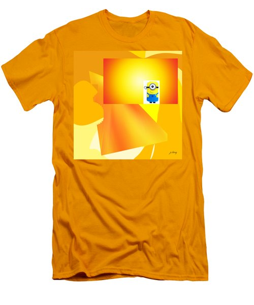 Hello Yellow Men's T-Shirt (Slim Fit) by Jacquie King