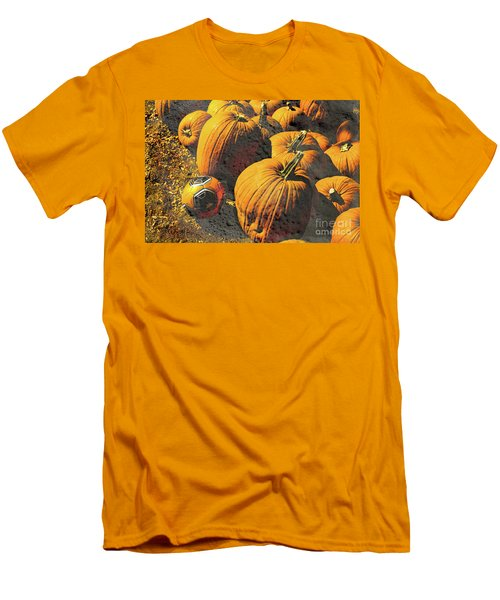 Hiding In Plain Pumpkin Men's T-Shirt (Slim Fit) by Deborah Nakano