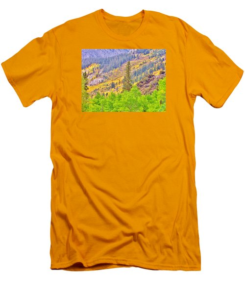 High Sierra Fall Colors Men's T-Shirt (Slim Fit) by Marilyn Diaz