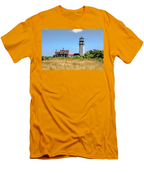 Men's T-Shirt (Slim Fit) featuring the photograph Highland Light - Cape Cod by Peter Ciro