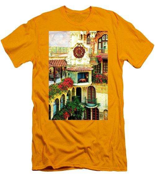 Historic Mission Inn Clock Men's T-Shirt (Athletic Fit)