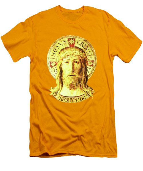 Men's T-Shirt (Slim Fit) featuring the digital art Holy Face by Asok Mukhopadhyay