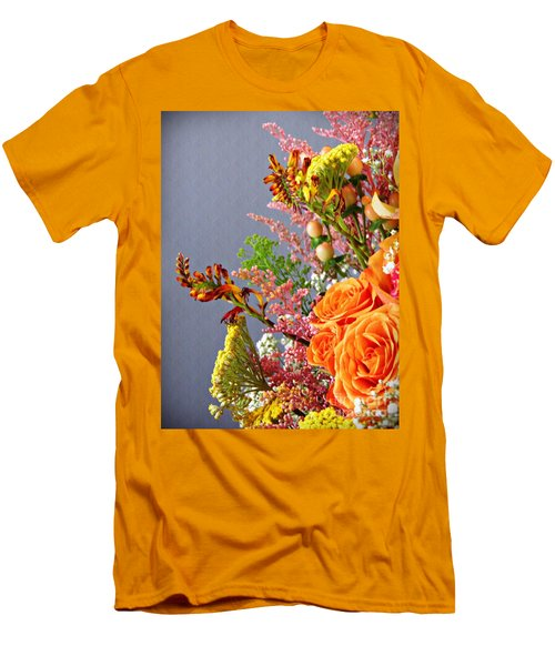 Men's T-Shirt (Slim Fit) featuring the photograph Holy Week Flowers 2017 3 by Sarah Loft