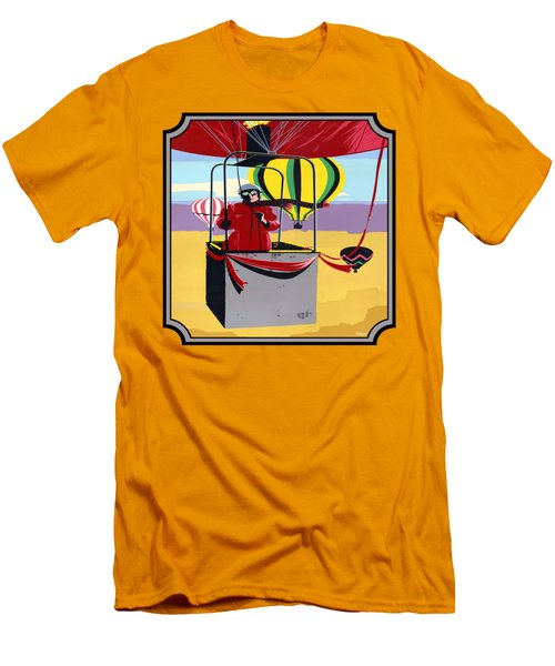 Hot Air Ballooning - Abstract - Pop Art -  Square Format Men's T-Shirt (Athletic Fit)