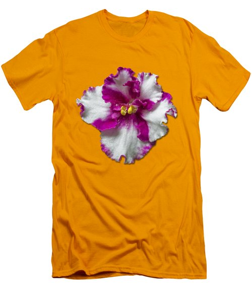 Hot Pink Flower Men's T-Shirt (Slim Fit) by Bob Slitzan