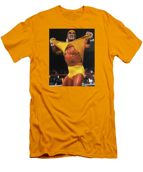 Hulk Hogan Oil On Canvas Men's T-Shirt (Athletic Fit)