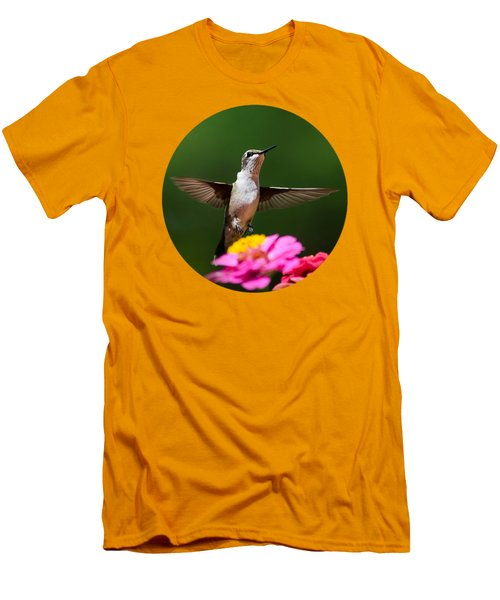 Hummingbird Men's T-Shirt (Slim Fit) by Christina Rollo