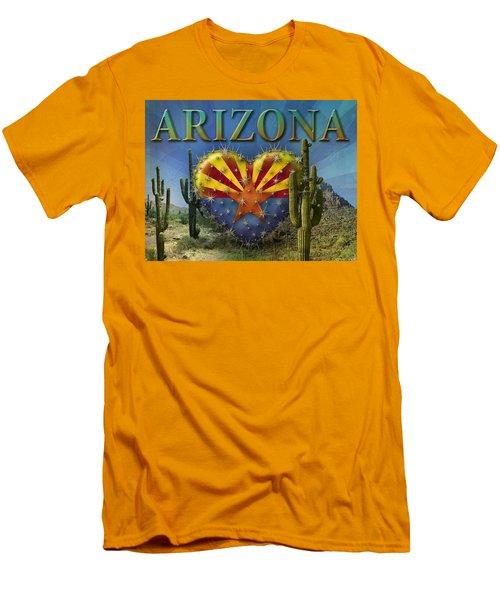 I Love Arizona Landscape Men's T-Shirt (Slim Fit) by James Larkin
