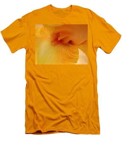 Inner Iris, Yellow, Close-up Men's T-Shirt (Slim Fit) by Jana Russon