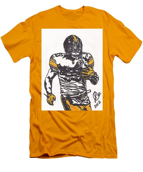 Men's T-Shirt (Slim Fit) featuring the drawing Isaac Redman by Jeremiah Colley