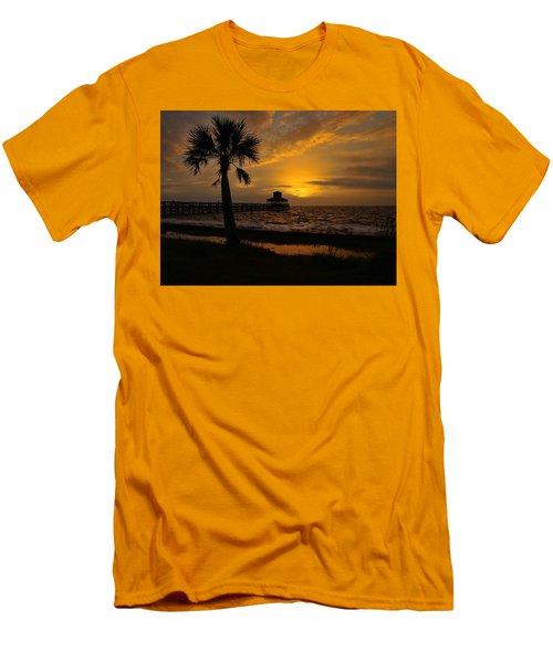 Island Sunrise Men's T-Shirt (Slim Fit) by Judy Vincent
