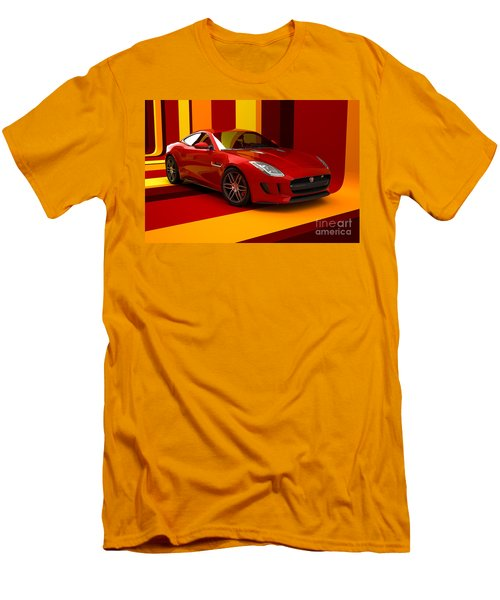 Jaguar F-type - Red Retro Men's T-Shirt (Athletic Fit)