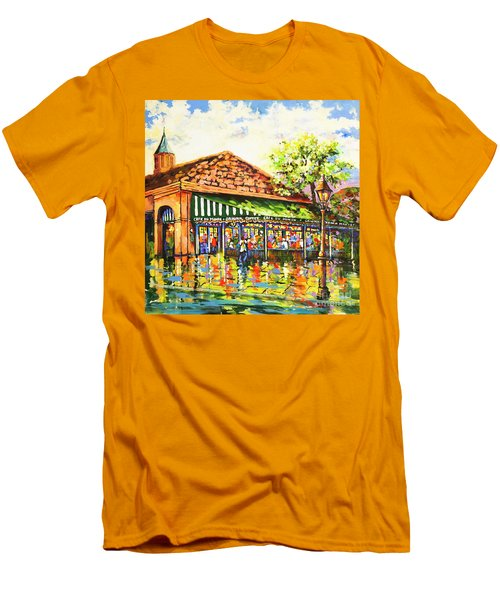Jazz At Cafe Du Monde Men's T-Shirt (Athletic Fit)
