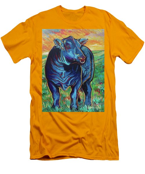 Men's T-Shirt (Slim Fit) featuring the painting Joe by Jenn Cunningham