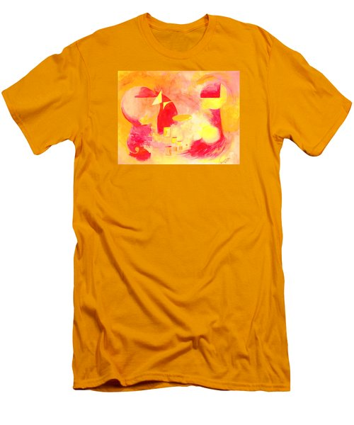 Men's T-Shirt (Slim Fit) featuring the painting Joyful Abstract by Andrew Gillette
