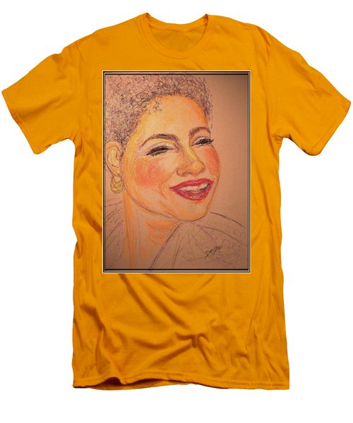 Men's T-Shirt (Slim Fit) featuring the drawing Joyful by Desline Vitto
