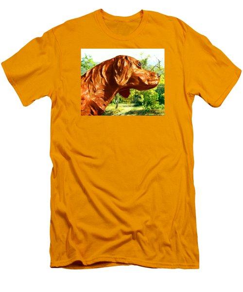 Junior's Hunting Dog Men's T-Shirt (Slim Fit) by Timothy Bulone