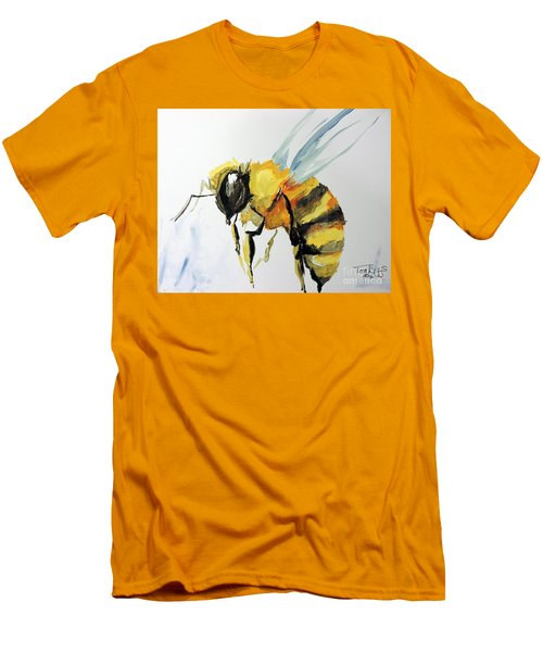 Men's T-Shirt (Slim Fit) featuring the painting Just Beecause by Tom Riggs