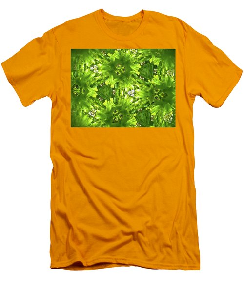 Kaleidoscope Flower Men's T-Shirt (Slim Fit) by Julia Wilcox