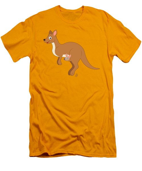 Mamma Kangaroo And Joey Men's T-Shirt (Slim Fit) by A