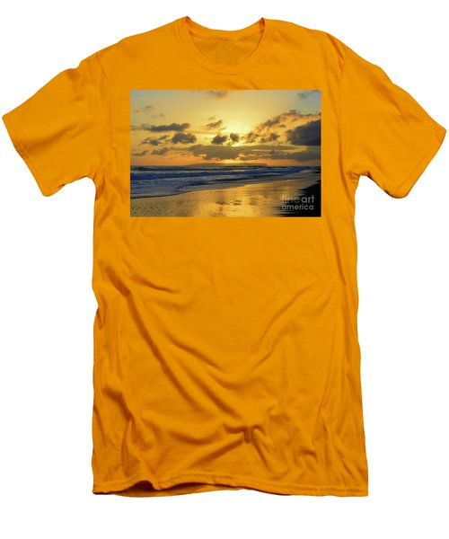 Kauai Sunset With Niihau On The Horizon Men's T-Shirt (Athletic Fit)