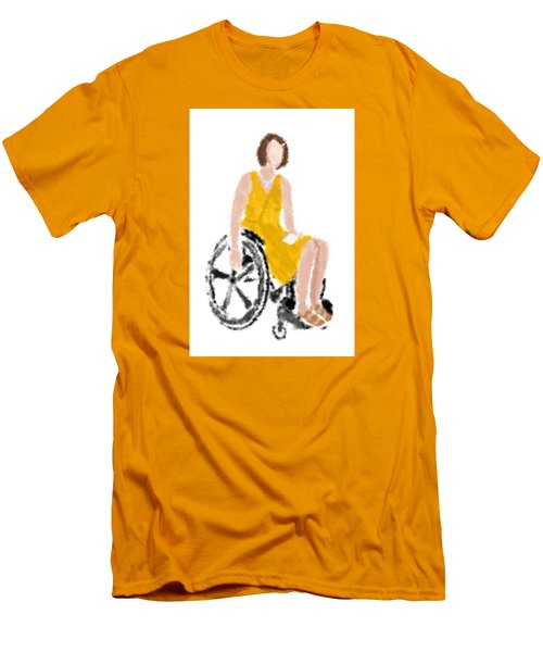 Men's T-Shirt (Slim Fit) featuring the digital art Kelly by Nancy Levan