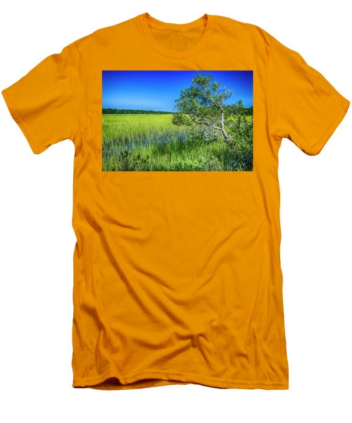 Kent Mitchell Nature Trail, Bald Head Island Men's T-Shirt (Athletic Fit)