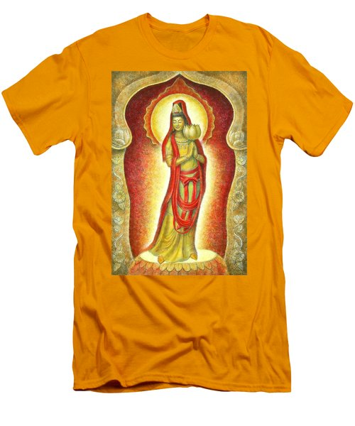 Kuan Yin Lotus Men's T-Shirt (Athletic Fit)