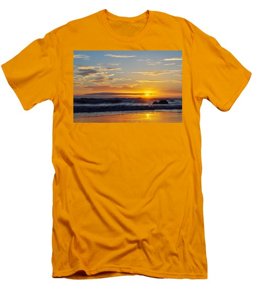 Men's T-Shirt (Slim Fit) featuring the photograph La Piedra Sunset Malibu by Kyle Hanson