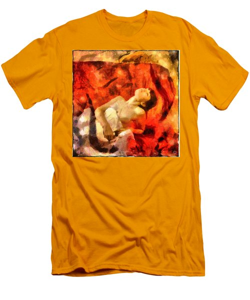 Men's T-Shirt (Slim Fit) featuring the digital art Lady In Red by Gun Legler