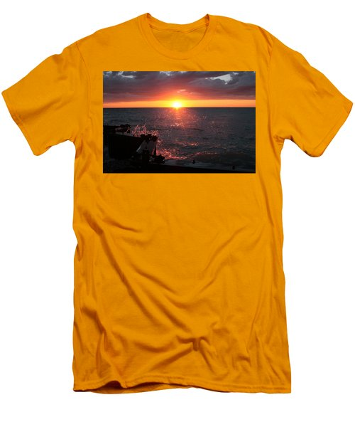 Men's T-Shirt (Athletic Fit) featuring the photograph Lake Michigan Sunset by Bruce Patrick Smith