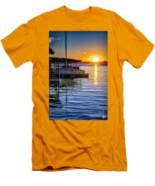 Men's T-Shirt (Slim Fit) featuring the photograph Lake Travis by Walt Foegelle
