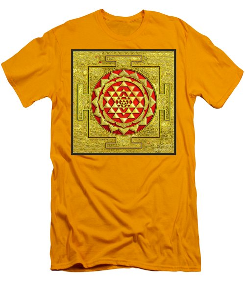 Men's T-Shirt (Slim Fit) featuring the photograph Lakshmi Kubera Yantra by Ragunath Venkatraman