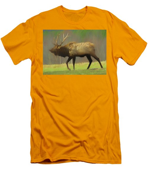 Large Pennsylvania Bull Elk. Men's T-Shirt (Athletic Fit)