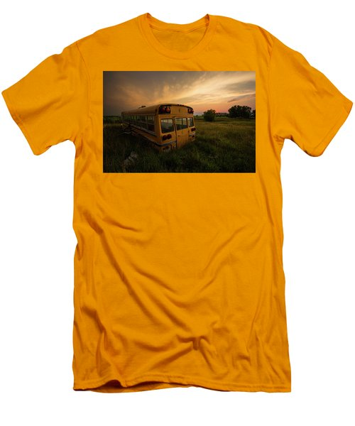 Men's T-Shirt (Athletic Fit) featuring the photograph Last Stop  by Aaron J Groen