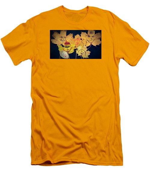Leaf Family Men's T-Shirt (Slim Fit) by Jana E Provenzano