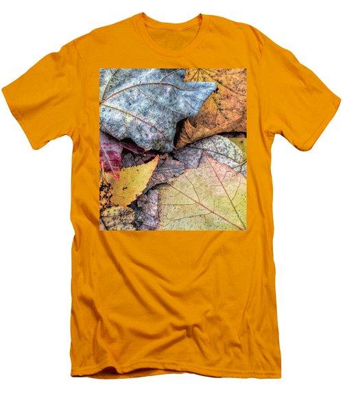 Leaf Pile Up Men's T-Shirt (Slim Fit) by Todd Breitling