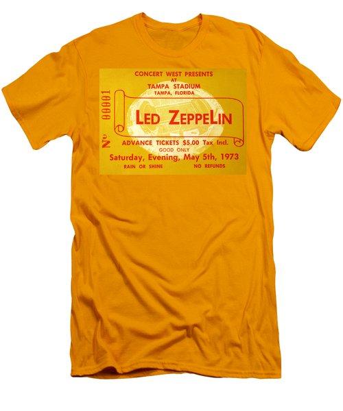 Led Zeppelin Ticket Men's T-Shirt (Slim Fit) by David Lee Thompson