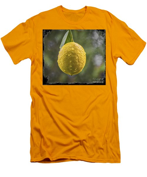 Men's T-Shirt (Slim Fit) featuring the photograph Lemon Fresh by Mitch Shindelbower