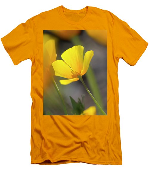 Lemon Yellow Men's T-Shirt (Slim Fit) by Sue Cullumber