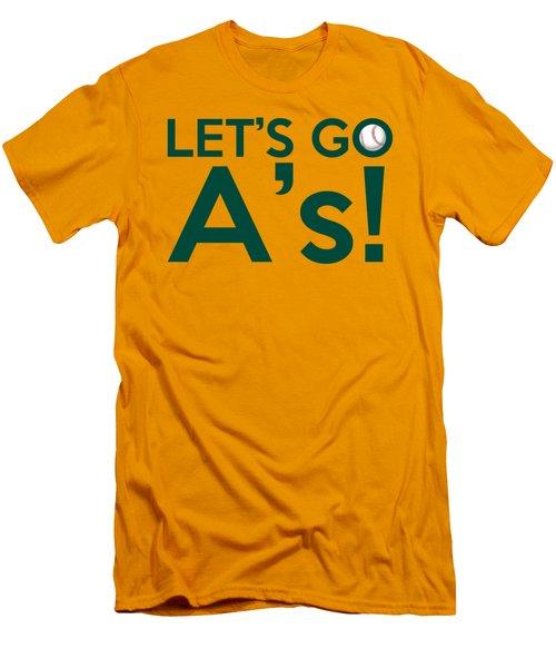 Let's Go A's Men's T-Shirt (Slim Fit) by Florian Rodarte