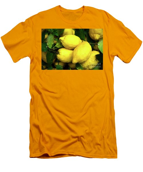 Men's T-Shirt (Slim Fit) featuring the photograph Life Gives You Lemons by Sandy Molinaro