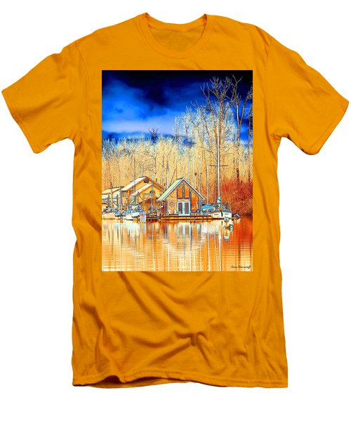 Life On The River Men's T-Shirt (Slim Fit) by Steve Warnstaff
