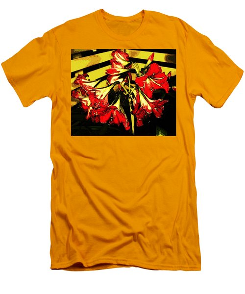 Men's T-Shirt (Athletic Fit) featuring the digital art Lily Gem by Winsome Gunning